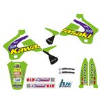 _Kit Deco + Housse de Selle Tecnosel Replica Team Kawasaki 1998 KX 125/250 94-98   84V02   Greenland MX_