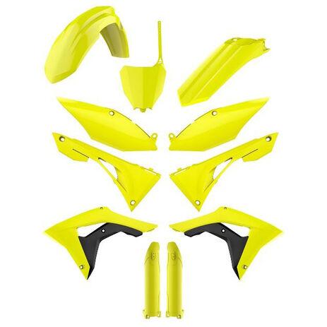_Full Kit Plastiques Polisport Honda CRF 450 R 17-18 Fluor Jaune | 90742 | Greenland MX_