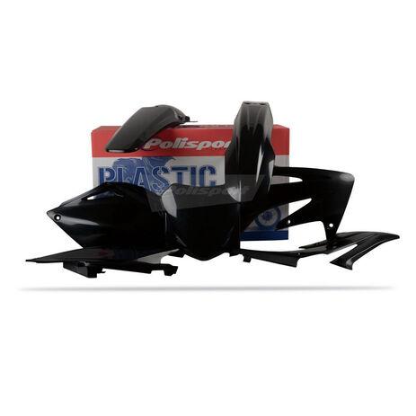 _Kit plastiques polisport CRF 250 08 noir | 90144 | Greenland MX_