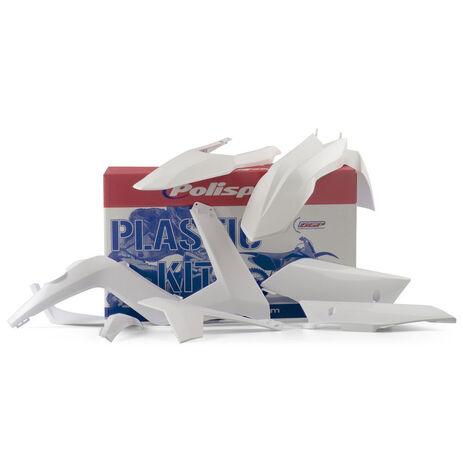 _Kit Plastiques Polisport Gas Gas EC 12-13 Blanc | 90490 | Greenland MX_