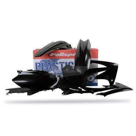 _Kit plastiques polisport  CRF 250 2010 CRF 450 09-10 noir | 90212 | Greenland MX_