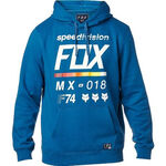 _Sweat à Capuche Fox District 2 Bleu | 19691-157-P | Greenland MX_
