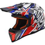 _Casque Enfant LS2 MX437J Fast Mini Strong Blanc/Rouge/Bleu | 40437J2626P | Greenland MX_