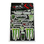 _Planche De Stickers Varies Monster 4MX | 01KITA606 | Greenland MX_
