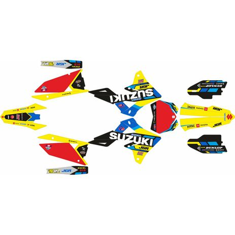 _Kit Autocollant Complète Suzuki RMZ 250 19-20 RMZ 450 18-20 JGR Edition | SK-SRMZ4501820JGRR-P | Greenland MX_