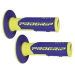 _Poignees Pro Grip 801 Dual Bleu/Jaune Fluo | PGP-801YLBL | Greenland MX_