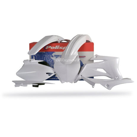 _Kit plastiques polisport Yamaha YZ 250/450 F 06-09 Blanc   90152   Greenland MX_
