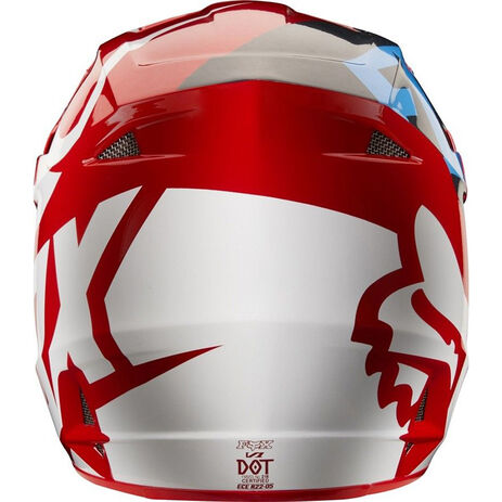 _Casque Fox V1 Race 2018 Rouge | 19532-003-P | Greenland MX_