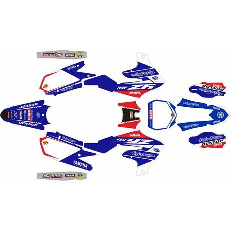 _Kit Autocollant Complète Yamaha YZ 450 F 18-20 Troy Lee Designs | SK-YYZ45F1820TROY-P | Greenland MX_