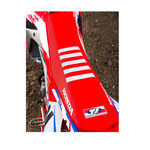 _Housse de selle avec bordures Honda CRF 450 R 17 USA Rouge-Blanc | ST17CRFBTSR | Greenland MX_