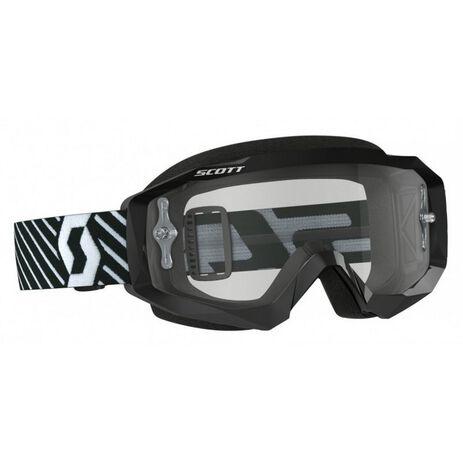 _Lunnettes Scott Hustle MX Lentille Trasparente Noir/Blanc | 2625921007113-P | Greenland MX_