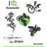 _Kit Tatouages Enfants Kawasaki | 226SPM0017 | Greenland MX_