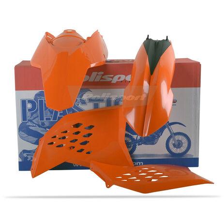 _Kit Plastiques Polisport KTM SX 07-10 EXC/EXCF 08-11 Orange   90182   Greenland MX_