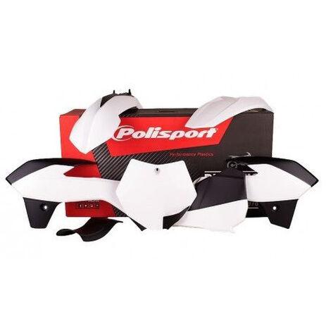 _Kit Plastiques Polisport KTM 85 2013-14 Blanc | 90556 | Greenland MX_