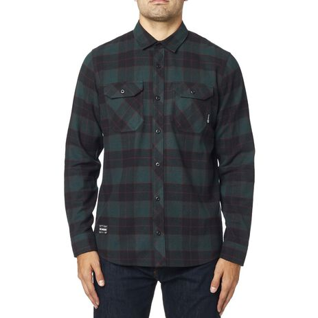 _Chemise Fox Traildust Flannel Emerald | 23826-294 | Greenland MX_