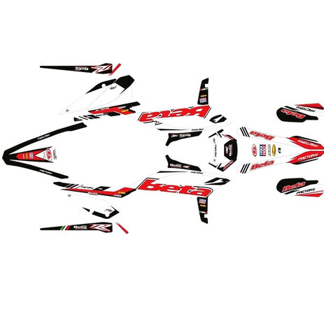 _Kit Autocollant Complète Beta Enduro 2020 Factory   SK-BTEND20FRWT-P   Greenland MX_