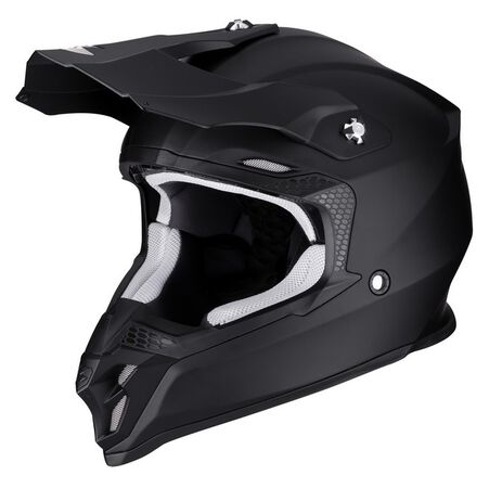 _Casque Scorpion VX-16 Air Noir Mat | 46-100-10 | Greenland MX_