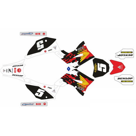 _Kit autocollant complète  Kit Restyling Polisport Honda CR 125/250 02-07 Réplica Mc Grath | SK-CRPLRKMC | Greenland MX_