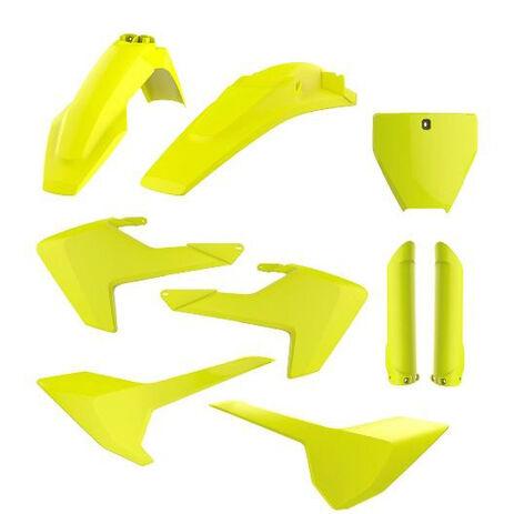 _Full Kit Plastiques Polisport Husqvarna TC/FC 16-18 Fluor Jaune   90741   Greenland MX_