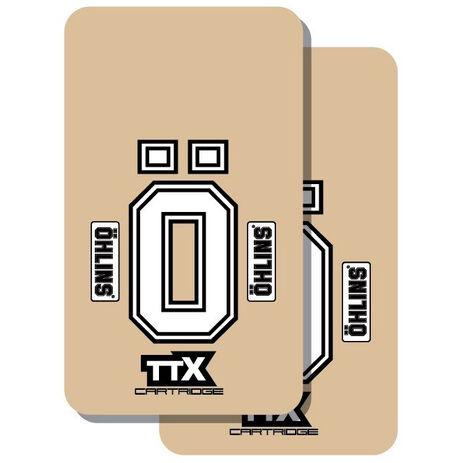 _Deco de Fourche TJ Vinyle ÖHLINS TTX Transparent | TJFOH | Greenland MX_