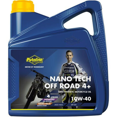 _Huile Putoline Off Road 4T Nano Tech 4+ 10W-40 4 Lt | PT74021 | Greenland MX_