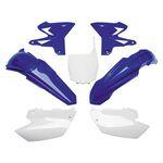 _Kit Plastiques Restyling UFO Yamaha YZ 125/250 02-14 Bleu/Blanc | YAKIT312-999 | Greenland MX_