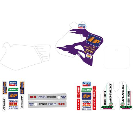 _Kit Autocollants Tecnosel Replica Team Honda Maddii 1995 CR 125 95-97 CR 250 95-96   21V07   Greenland MX_