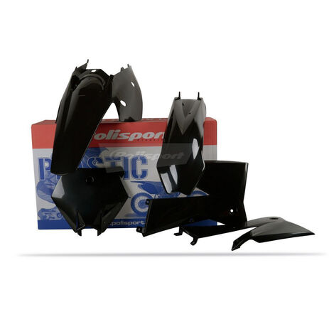 _Kit Plastiques Polisport KTM SX 05-06 EXC/EXC-F 05-07 Noir | 90195 | Greenland MX_