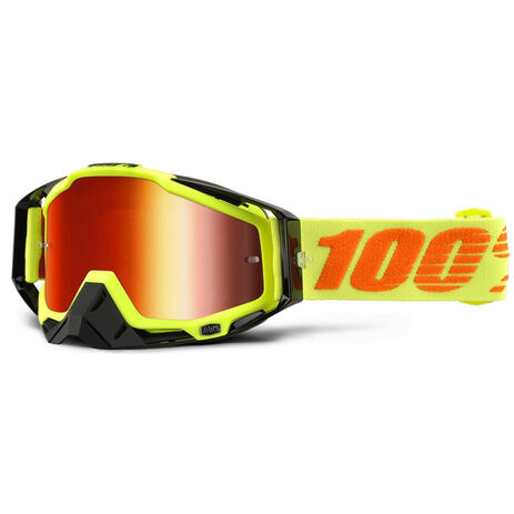 _Lunettes 100% Racecraft Attack Jaune Fluor Mirror | 50110-026-02 | Greenland MX_