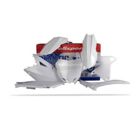 _Kit plastiques polisport Suzuki RMZ 450 08-15 blanc | 90145 | Greenland MX_