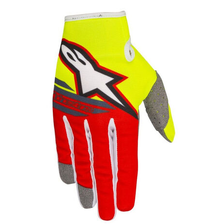 _Gants Alpinestars Radar Flight Jaune Fluo/Rouge | 3561818-539-P | Greenland MX_