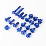 _Kit Visserie Zeta Aluminium pour Plastique Kawasaki KX 250 F 13-16 KX 450 F 12-15 Bleu | ZE88-5246 | Greenland MX_