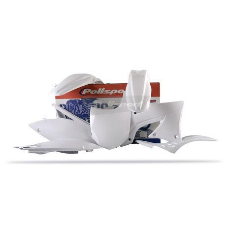 _Kit Plastiques Polisport Kawasaki KX 450 F 09-11 Blanc | 90217 | Greenland MX_