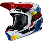 _Casque Fox V1 Yorr Rouge/Bleu | 25476-149 | Greenland MX_