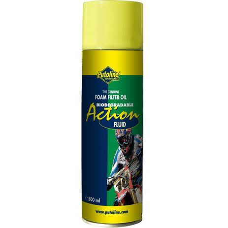 _Huile Putoline Filtres à Air Action Fluid Bio Spray 600 ml | PT70031 | Greenland MX_