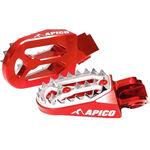 _Reposes-pieds Enduro Apico Pro-bite Honda CR 125/250 R 02-07 CRF 250 R/X 04-16 450 R/X 02-16 Rouge | AP-FPROCR-CRFRD | Greenland MX_