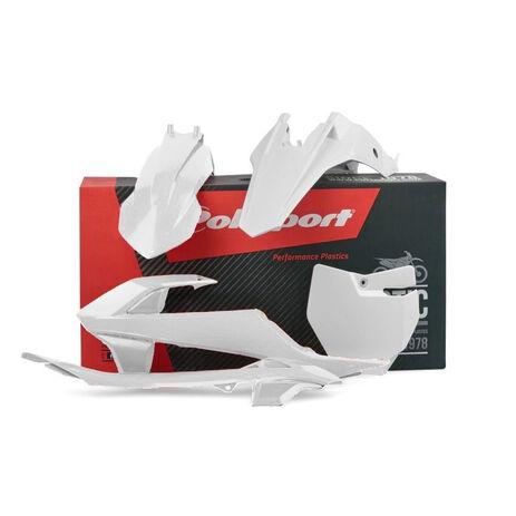 _Kit Plastiques Polisport KTM SX 65 16-18 Blanc | 90685 | Greenland MX_