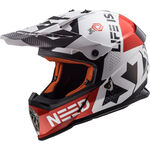 _Casque LS2 MX437 Fast Block Blanc/Rouge | 404373032 | Greenland MX_