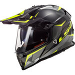 _Casque LS2 Pioneer MX436 Ring Noir Titanium/Jaune | 404362654 | Greenland MX_