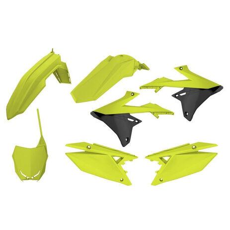 _Kit Plastiques Polisport Suzuki RMZ 250 19 RMZ 450 18-19 Jaune Fluo | 90783 | Greenland MX_