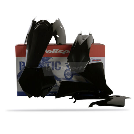 _Kit Plastiques Polisport KTM SX 03-04 EXC/ EXCF 04 Noir | 90194 | Greenland MX_