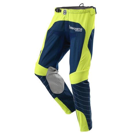 _Pantalon MX Husqvarna Railed Bleu/Jaune | 3HS162250P | Greenland MX_
