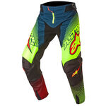 _Pantalon Alpinestars Techstar Factory 2017 Vert/Jaune Fluor/Rouge | 3721017-7073 | Greenland MX_