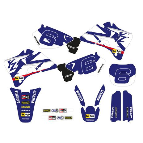 _Kit Autocollants Tecnosel Replica Team Yamaha 1998 YZ 125/250 96-01   22V02   Greenland MX_