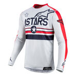 _Maillot Alpinestars 5 Stars Racer Tech LE Rouge/Gris | 3762619-9034 | Greenland MX_
