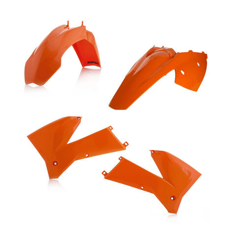 _Kit Plastiques Acerbis KTM EXC 125/200/250/300 05-07 EXC-F 250/400 05-07 Orange | 0008193.010 | Greenland MX_