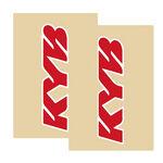 _Deco de fourche tj vinyle kayaba transparent Rouge | TJFSKYBRD | Greenland MX_
