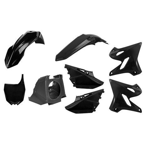 _Kit Plastiques Polisport MX Restyling Yamaha YZ 125/250 02-14 à 15-18 Noir | 90718 | Greenland MX_