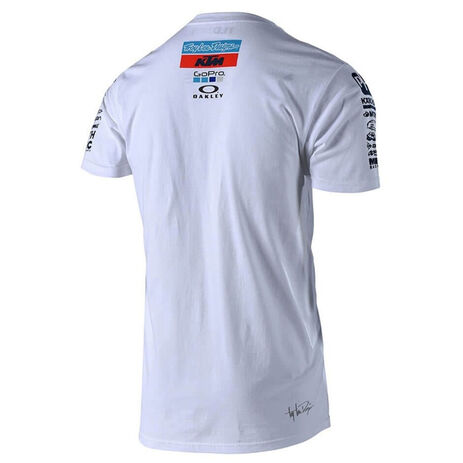 _T-Shirt Troy Lee Designs KTM Team Blanc | 701644170 | Greenland MX_