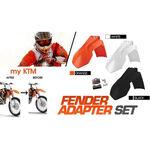 _Kit Adaptateur garde boue avant KTM EXC 08-13 SX 07-12 a 2014 noir   KT-AGD-KTMB   Greenland MX_